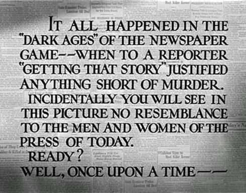 his girl friday opening title