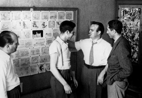 Tex Avery at the Walter Lantz studio. Photo credit: animationresources.org
