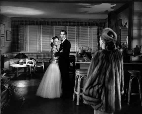 Ann Blyth, Scott, and Joan Crawford in a pivotal scene from Mildred Pierce (1945)